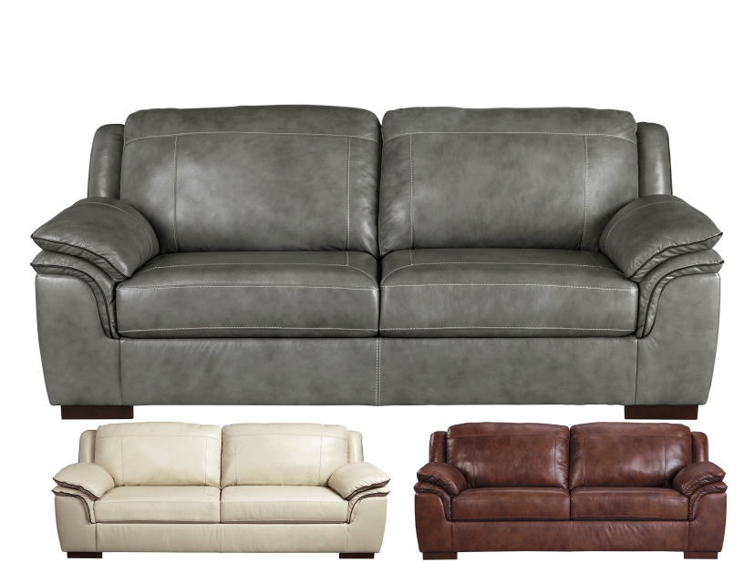 Leather Stationary And Motion Sofas